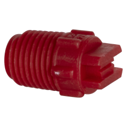 "65° Red PVDF Bex® F Series 1/4"" MNPT Spray Nozzle - Size 03"