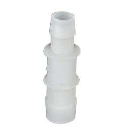 "1/16"" x 3/32"" Tube ID Natural Polypropylene Reduction Coupler"