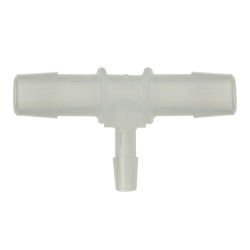 "1/16"" x 1/16"" x 1/16"" Tube ID Natural Polypropylene Tee"