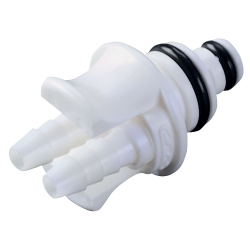 """1/8"""" ID (3.2mm ID) Twin Tube™ In-Line Hose Barb Coupling Insert - Straight Thru (Body Sold Separately)"""