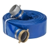 "1-1/2"" Blue PVC Water Discharge Hose Assembly w/Pin Lug Female & Male Ends"