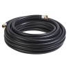"3/4"" ID x 50' Black Contractors PVC Water Hose Assembly"