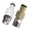 "3/8"" Ferruless PLC Series Polypropylene Insert - Shutoff"