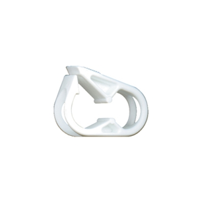 "White Polypropylene Tubing Clamp for Tubing up to 0.25"" OD"