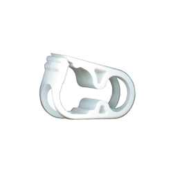"White 12 Position Acetal Tubing Clamp for Tubing up to 0.45"" OD"