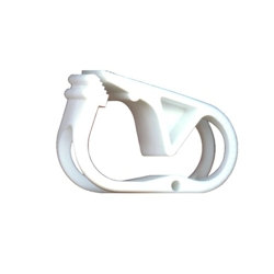 "White 1 Position Polypropylene Tubing Clamp for Tubing up to 0.50"" OD"