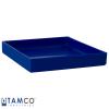"10-3/8"" L x 10-3/8"" W x 1-1/2"" Hgt. Blue Tamco® Tray"