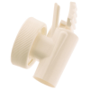 "White 38 MM Polypropylene Spigot 1/2"" ID"