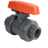 "2-1/2"" Threaded PVC TB Series Ball Valve with Safe Lockout & FPM O-rings"