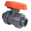 "2-1/2"" Socket PVC TB Series Ball Valve with Safe Lockout & FPM O-rings"