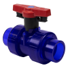 "1/2"" True Union Low Extractable PVC Ball Valve with FKM Seals"