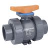 "1/4"" Socket PVC TBH Series True Union Ball Valve with FPM O-rings"