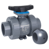 "1/2"" Socket/Threaded PVC TBH Series True Union Z-Ball Valve with FPM O-rings for NaOCl"