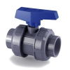 "1-1/2"" Socket e-QUA Series PVC True Union Ball Valve with EPDM O-rings"