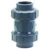 "3/8"" PVC 562 True Union Cone Check Valve with Spring & EPDM Seals"
