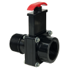"1-1/2"" MIP x FIP Black Knife Gate Valve"