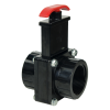"1-1/2"" FIP x FIP Black Knife Gate Valve"