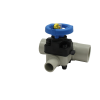 "2"" x 1"" T-343 PP-Pure® High Purity Zero-Deadleg Diaphragm Valve with EPDM Diaphragm"