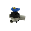 "1-1/2"" x 1"" T-343 PP-Pure® High Purity Zero-Deadleg Diaphragm Valve with PTFE Diaphragm"
