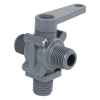 "1/2"" MNPT Series 350 3-Way PVC Ball Valve with Buna-N Seals"