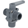 "3/4"" MNPT Series 350 3-Way PVC Ball Valve with Buna-N Seals"