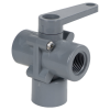 "1/2"" Socket Series 350 3-Way PVC Ball Valve with Buna-N Seals"