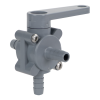 "3/8"" Hose Barb Series 350 3-Way PVC Ball Valve with Buna-N Seals"