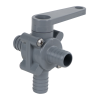 "5/8"" Hose Barb Series 350 3-Way PVC Ball Valve with Buna-N Seals"