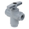 "1/4"" FNPT Series 629 3-way PVC Ball Valve with Buna-N Seals"