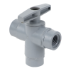 "3/8"" FNPT Series 629 3-way PVC Ball Valve with Buna-N Seals"