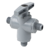 "1/4"" MNPT Series 629 3-way PVC Ball Valve with Buna-N Seals"