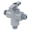 "3/8"" MNPT Series 629 3-way PVC Ball Valve with Buna-N Seals"