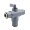 """3/8"""" OD Push-to-Connect Series 326 3-Way PVC Ball Valve with EPDM Seals"""