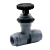 "1/4"" FNPT x 1/4"" FNPT PVC Needle Valve with EPDM Seal - 45° Tip"
