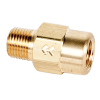 "1/8"" FNPT x 1/8"" MNPT Series 210 Brass Check Valve with EPDM Seals - 1 PSI"