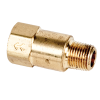 "1/8"" MNPT x 1/8"" FNPT Series 210 Brass Check Valve with Buna-N Seals - 1/3 PSI"