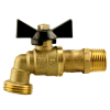 "1/2"" MNPT x 3/4"" GHT No Lead 1/4 Turn Brass Hose Bibb"