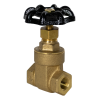 "1/4"" FNPT No-lead Brass Gate Valve"