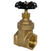 "1-1/4"" FNPT No-lead Brass Gate Valve"