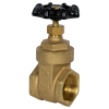 "1-1/2"" FNPT No-lead Brass Gate Valve"