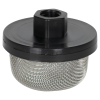 "1/4"" FNPT x 20 Mesh x 2.385"" Dia. Nylon/Stainless Steel Suction Strainer"