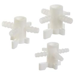 Three-Way PVDF Stopcocks
