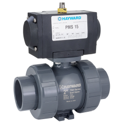 "1/2"" PMDTBH Series Pneumatic Actuator & True Union PVC Ball Valve with FPM O-rings"