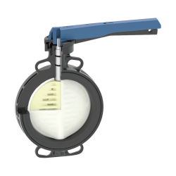 GF® Type 565 Wafer Butterfly Valve - Lever Operation