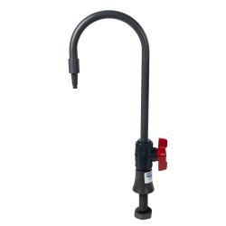 "1/2"" Table Mount PVC Goose Neck Faucet with Manual Valve"