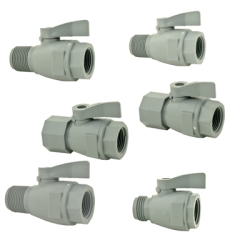 SMC 074 Series PVC Two-Way Ball Valves