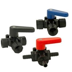 SMC 639 Series PVC Three-Way Ball Valve