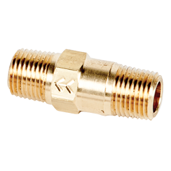 "1/8"" MNPT x 1/8"" MNPT Series 210 Brass Check Valve with Buna-N Seals - 1 PSI"
