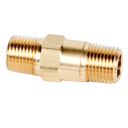 """1/8"""" MNPT x 1/8"""" MNPT Series 210 Brass Check Valve with Viton™ Seals - 1 PSI"""