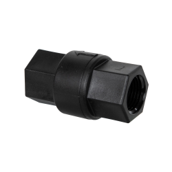 "1/2"" FNPT x 1/2"" FNPT Polypropylene Check Valve with FKM Seals, 3 PSI Cracking Pressure & Hastelloy Spring"